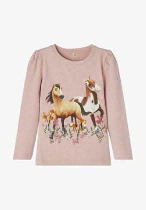 LONGSLEEVE PFERDE - Sweatshirt - pale mauve