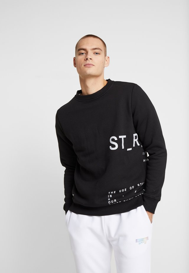 INSTRUSTIONS CREW - Sweater - black