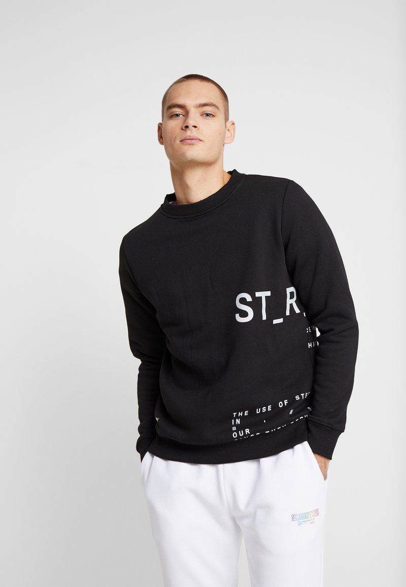 STEREOTYPE - INSTRUSTIONS CREW - Mikina - black
