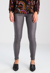 Kaffe - ADA COATED - Leggings - Trousers - dark dull grey - 0