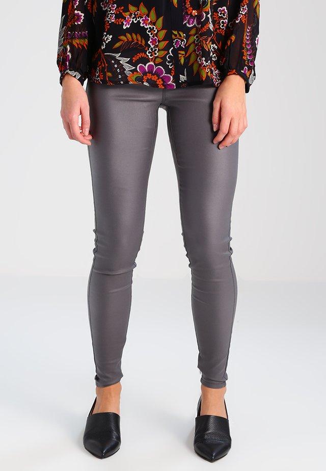 ADA COATED - Leggings - Trousers - dark dull grey