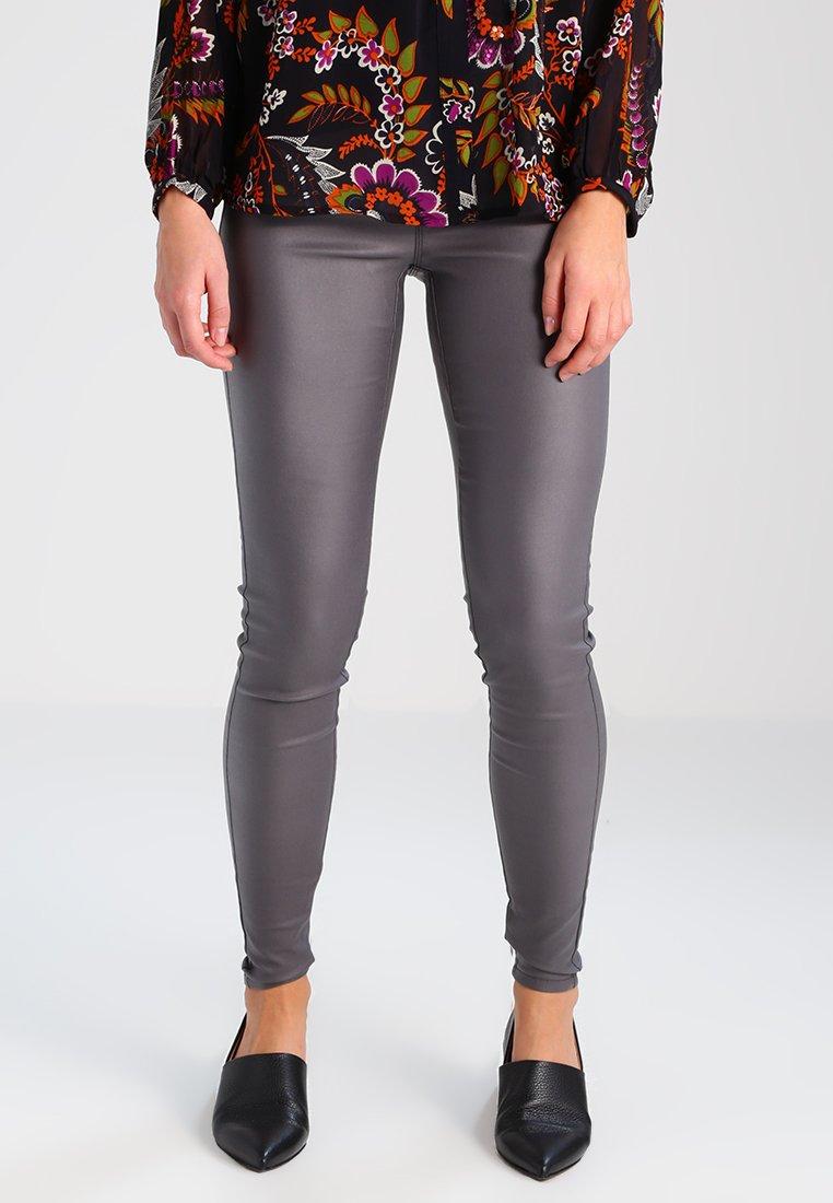 Kaffe - ADA COATED - Leggings - Trousers - dark dull grey