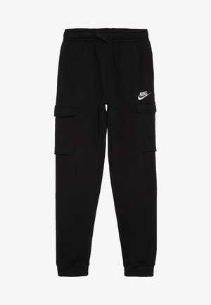 CLUB CARGO  - Tracksuit bottoms - black/white