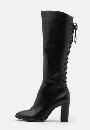 EGO - Šněrovací vysoké boty - noir