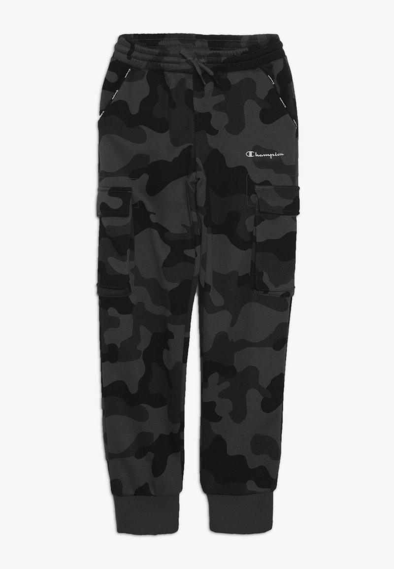 Champion - AMERICAN CLASSICS MAXI LOGO CUFF CARGO PANT - Teplákové kalhoty - dark grey/black