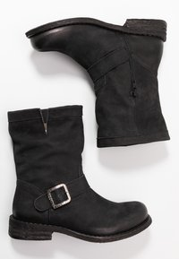 Felmini Wide Fit - GREDO - Cowboy/biker ankle boot - pacific black - 3