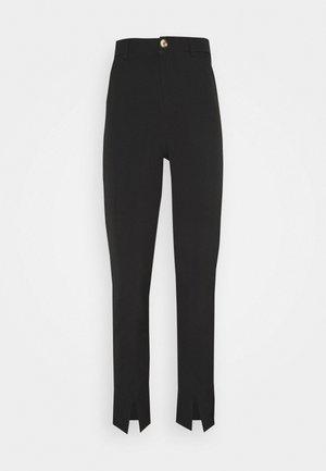 LUNI DRESSED PANT - Tygbyxor - black