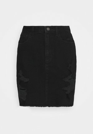 DESTROY - Denim skirt - black