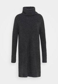 ONLY Tall - ONLJANA COWLNCK DRESS  - Pletené šaty - dark grey melange - 0