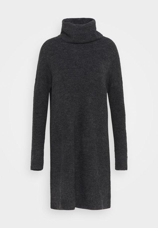 ONLJANA COWLNCK DRESS  - Stickad klänning - dark grey melange