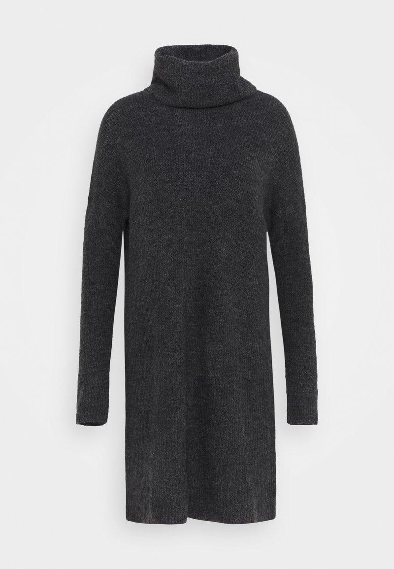 ONLY Tall - ONLJANA COWLNCK DRESS  - Pletené šaty - dark grey melange