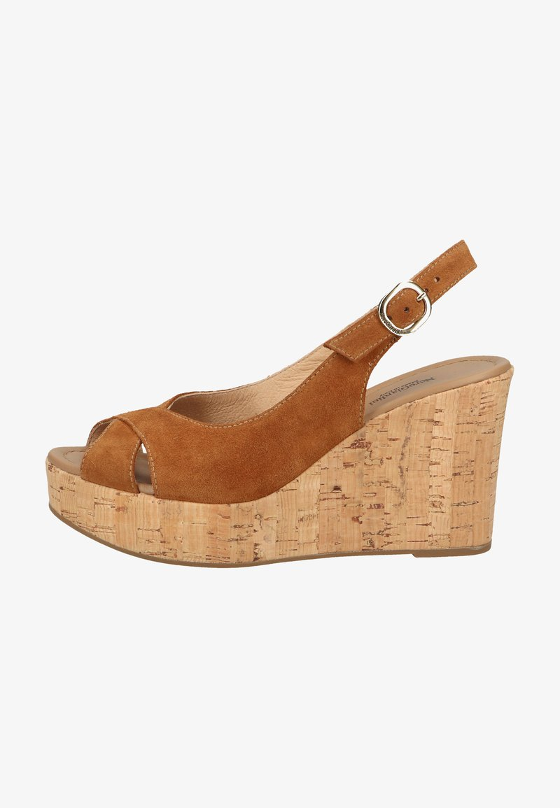 NeroGiardini - High heeled sandals - tabacco