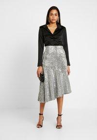 Monki - SKIRT - A-snit nederdel/ A-formede nederdele - silver - 1