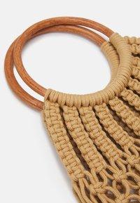 Pieces - PCLUNIA CROCHET BAG - Tote bag - almond buff - 3
