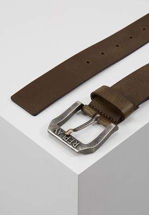 Belt - dark brown wood