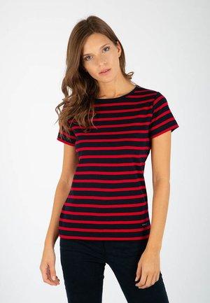 MORGAT MARINIÈRE - T-shirt imprimé - rich navy/braise