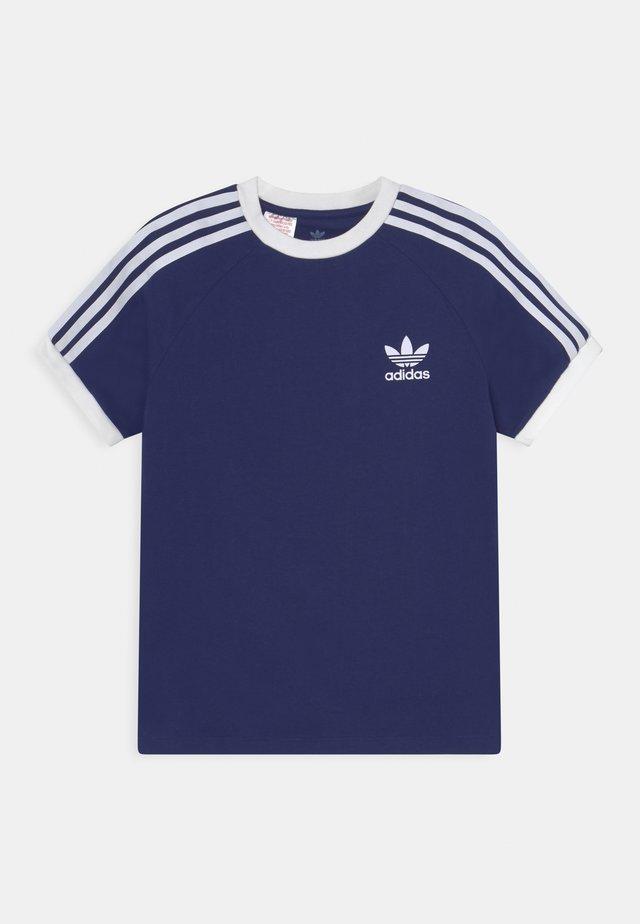 STRIPES TEE - Print T-shirt - night sky/white