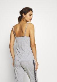 LASCANA - LASCANA SHINY - Pyjama top - grey melange - 2