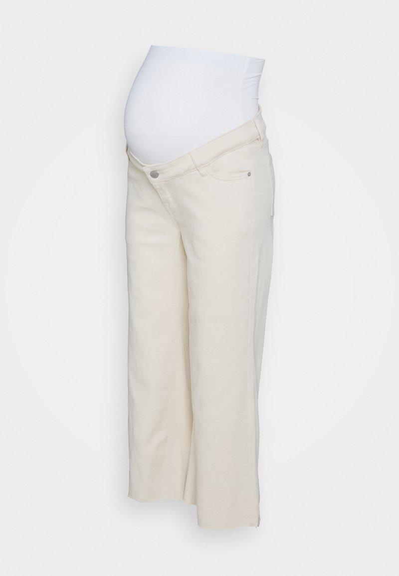 MAIAMAE - WIDE LEG CROP - Straight leg jeans - ecru