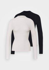 2 PACK MOCK NECK  - Sweter - off white