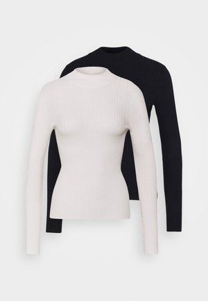 2 PACK MOCK NECK  - Jumper - off white