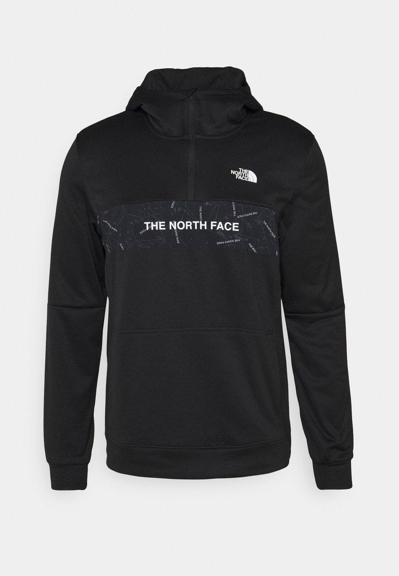 The North Face - TRAIN LOGO ZIP HOODIE - Kapuzenpullover - black