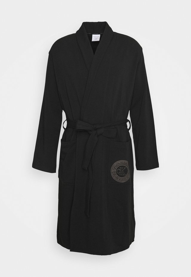 ICON LOUNGE ROBE - Dressing gown - black