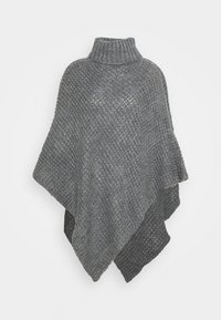 Pieces - PCSTACY PONCHO - Cape - medium grey melange - 0