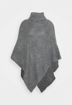 PCSTACY PONCHO - Kapper - medium grey melange