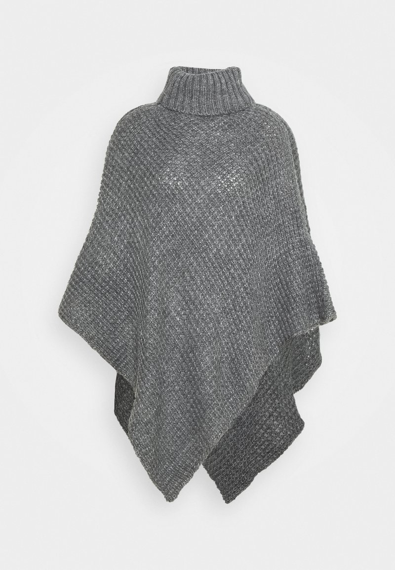 Pieces - PCSTACY PONCHO - Cape - medium grey melange
