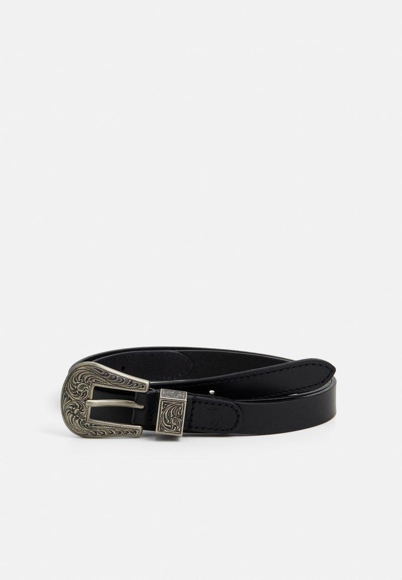 Abercrombie & Fitch - WESTERN BELT - Cinturón - black