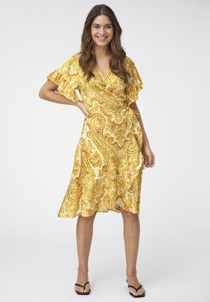 AUDREY - Day dress - paisley yellow