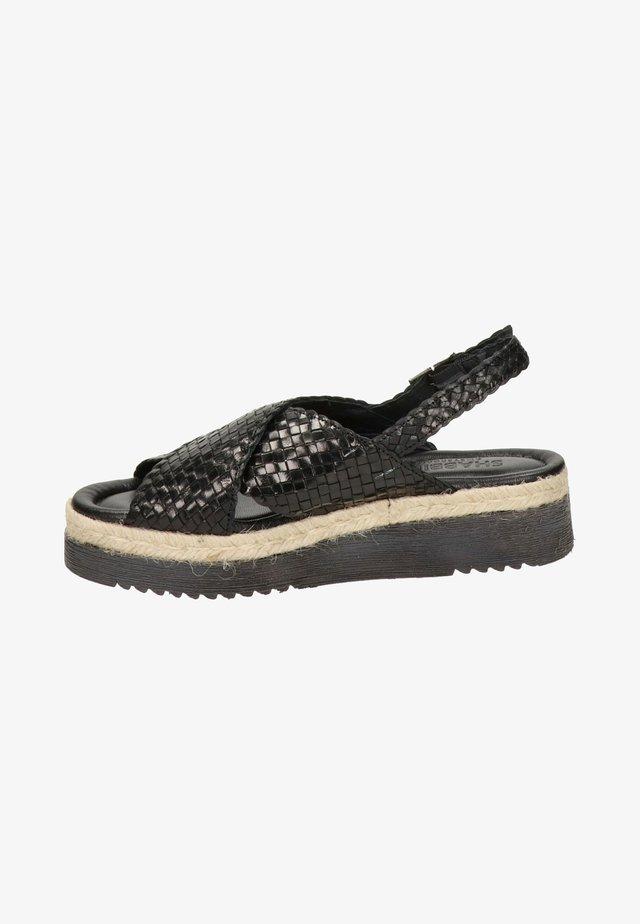 Sandalen met plateauzool - zwart
