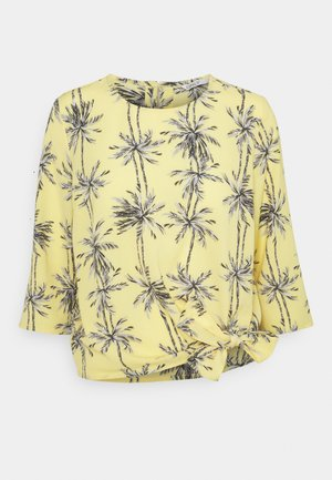 ONLNOVA LUX KNOT - Long sleeved top - misted yellow