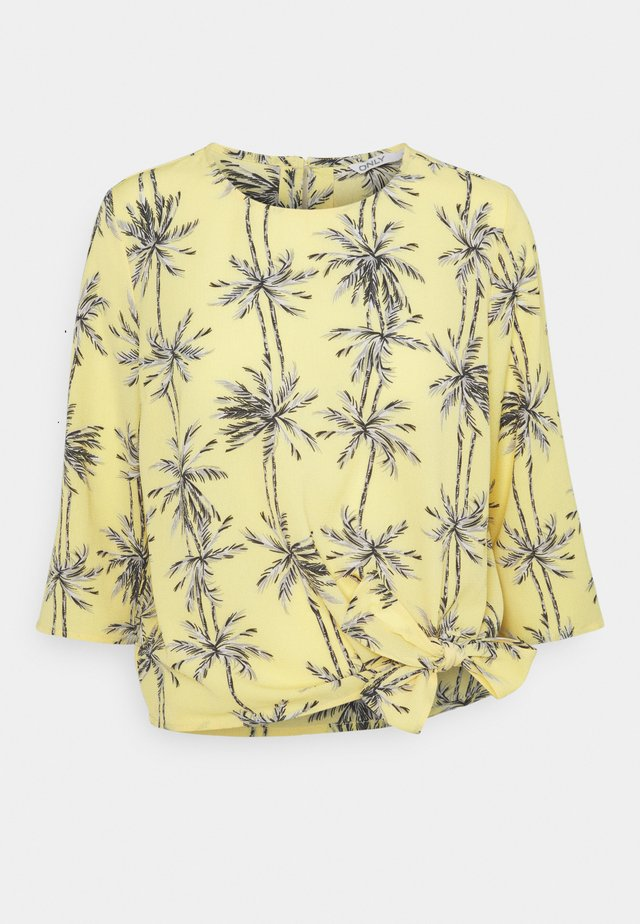 ONLNOVA LUX KNOT - Camiseta de manga larga - misted yellow
