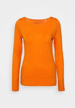 Langarmshirt - sunbaked orange