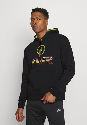 HOODIE - Jersey con capucha - black/cyber