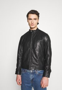 Matinique - MAADRON - Leather jacket - black - 0