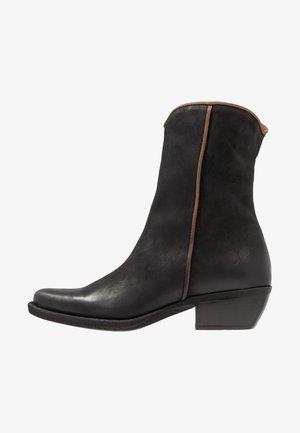 EL PASO - Cowboy/biker ankle boot - morgan black/cobre