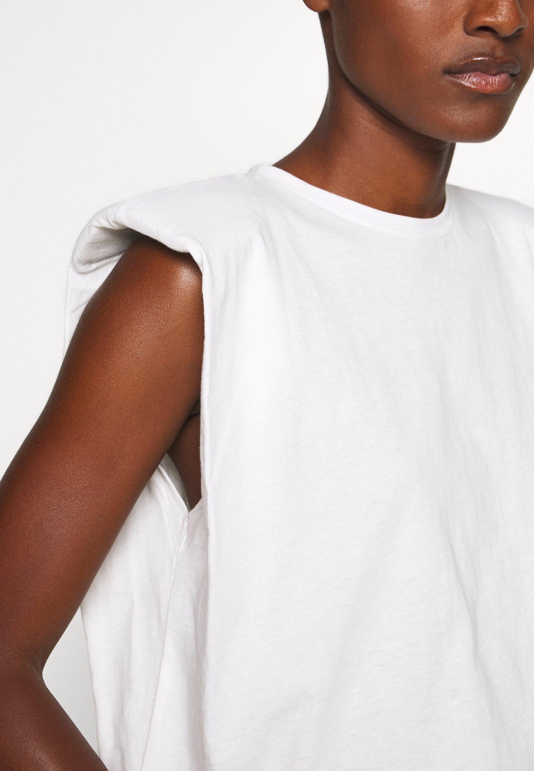 Trendyol SIYAH - Camiseta básica - white Sn6Fq