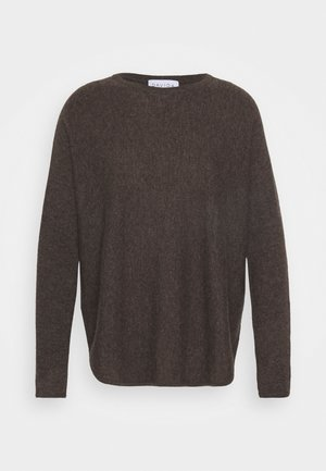 CURVED SWEATER - Maglione - cacao