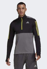 adidas Performance - OWN THE 1/2 RESPONSE PRIMEGREEN RUNNING PULLOVER SWEATSHIRT - Sweatshirt - grey - 0