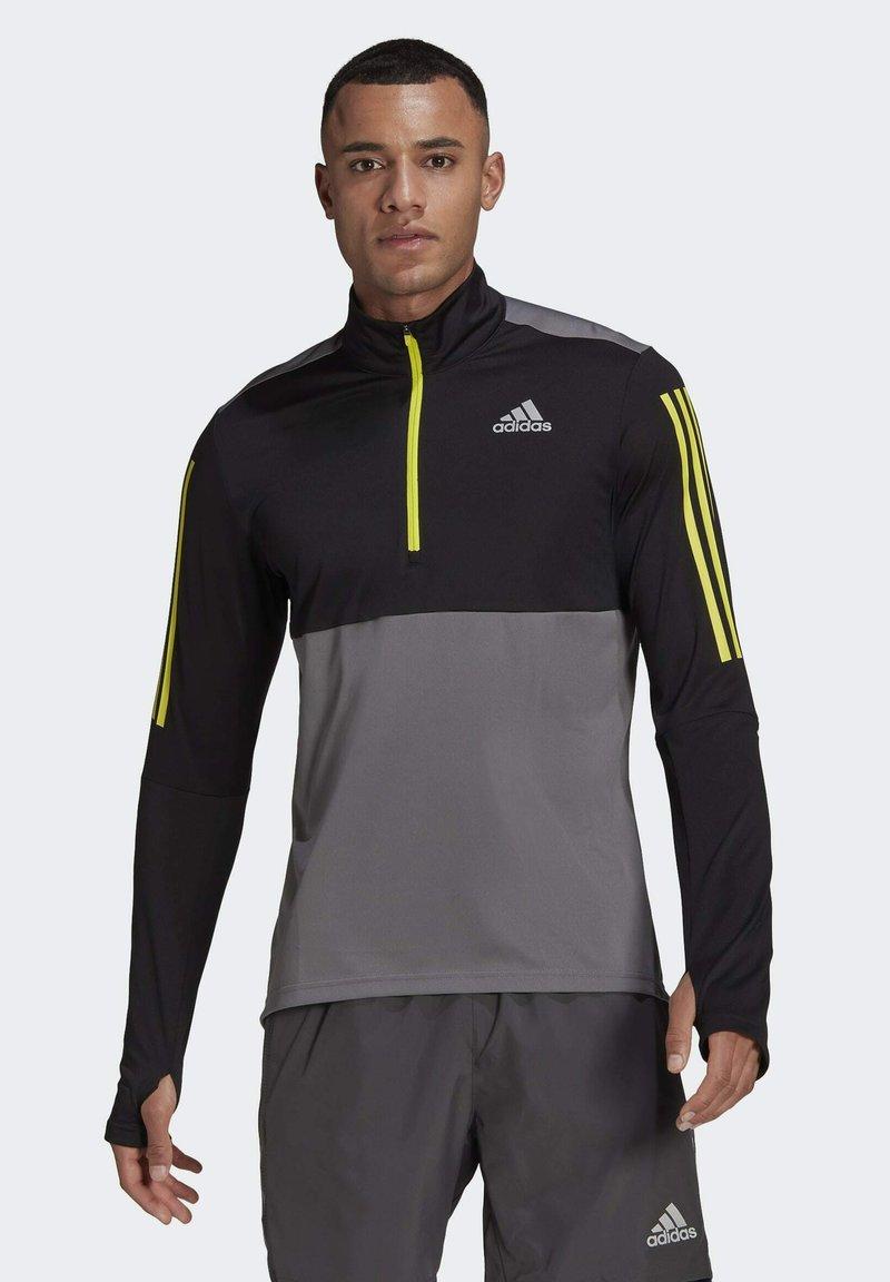 adidas Performance - OWN THE 1/2 RESPONSE PRIMEGREEN RUNNING PULLOVER SWEATSHIRT - Sweatshirt - grey