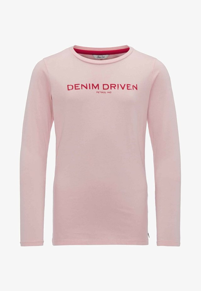 Long sleeved top - silver pink