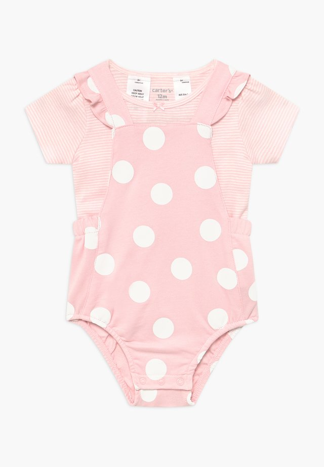 BIG DOTS SET - Overal - pink