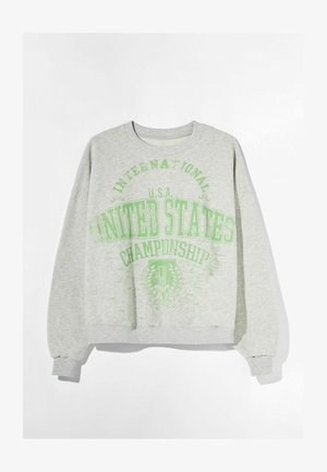 MIT PRINT USA  - Trui - light grey