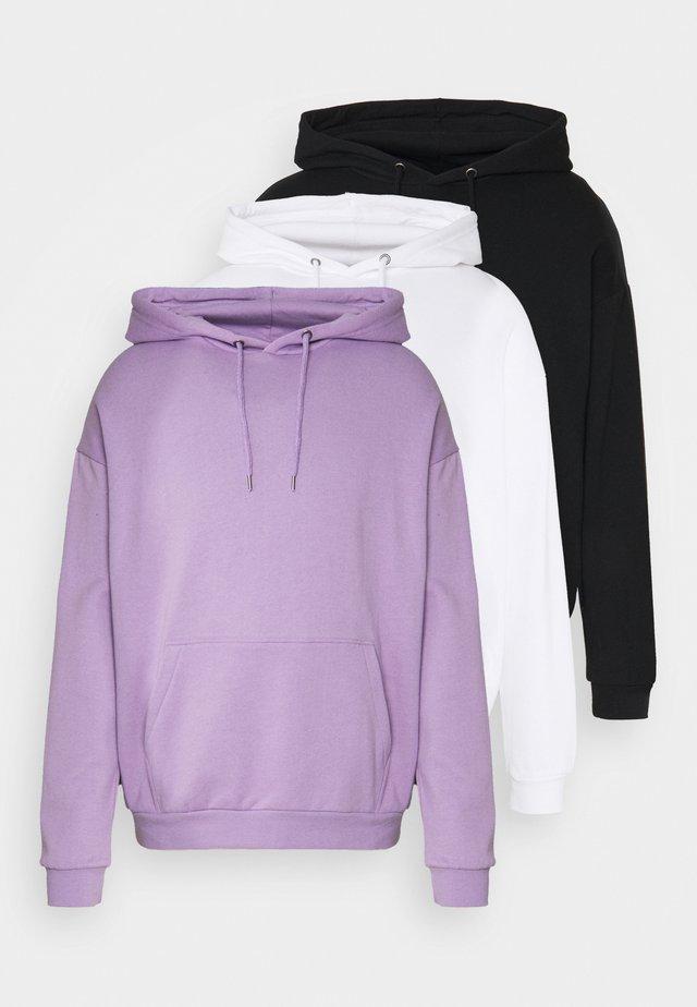 UNISEX 3 PACK - Felpa con cappuccio - lilac