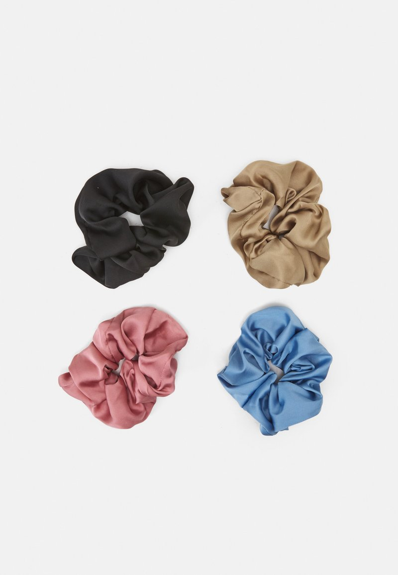 ONLY - ONLMERLE BIG SCRUNCHIE 4 PACK - Hair Styling Accessory - china blue/elmwood/ash rose