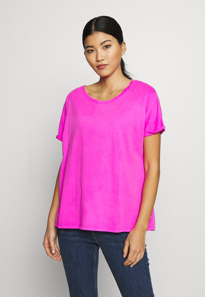 Replay - T-shirt con stampa - fuchsia
