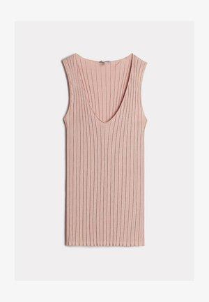 FIGURBETONTES TANKTOP AUS BAUMWOLLE/SEIDE MIT V-AUSSCHNITT - Pyjama top - rosa - 349i - pink sand